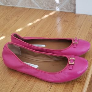 DVF ballet flats Fuscia leather size 8